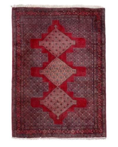 """Semi Antique Persian Rug, Red/Blue/Orange/Cream, 5' 7"""" x 4' 2"""""""