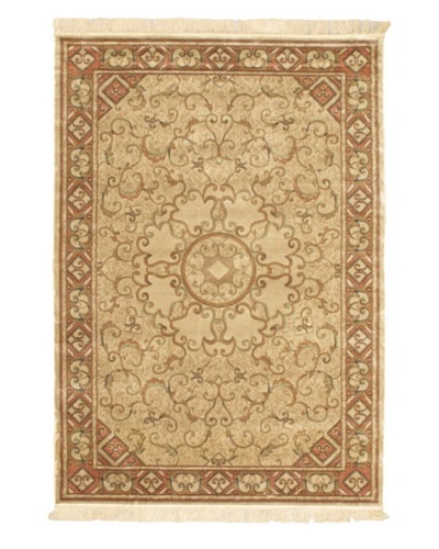 Persian Traditional Rug, Beige, 4' 7 x 6' 7