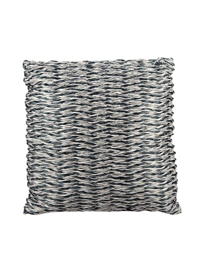 "Joseph Abboud Multi Braid Pillow, Navy/Silver, 20"" x 20"""