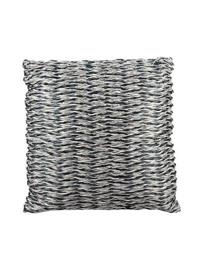 Joseph Abboud Multi Braid Pillow, Navy/Silver, 20 x 20
