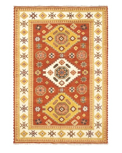 "Hand-Knotted Royal Kazak Wool Rug, Copper, 6' 8"" x 9' 9"""
