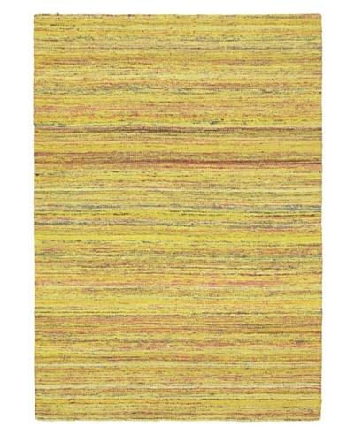 Hand Woven Silky Allure Modern Flatweave Kilim, Yellow, 4' 7 x 6' 5