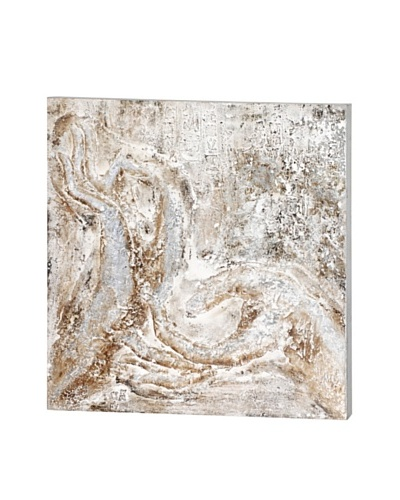 Kenisis I, Cream/Grey, 35 x 35