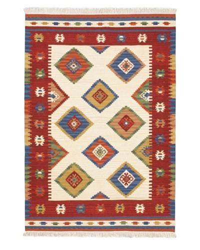 Keisari Traditional Kilim, Red, 4' x 5' 11