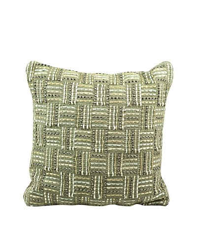 Joseph Abboud Ribbing Jacquard Pillow, Copper, 20 x 20