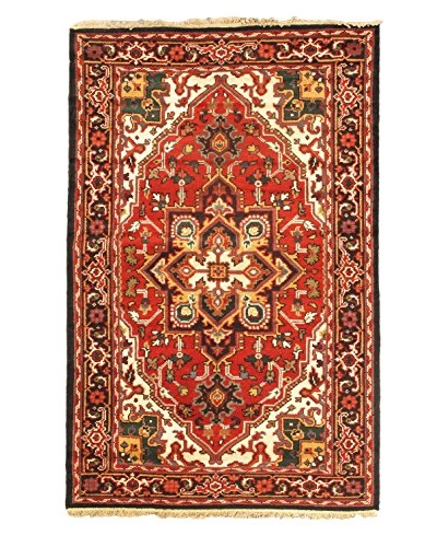Hand-Knotted Royal Heriz Wool Rug, Red, 4' x 6'