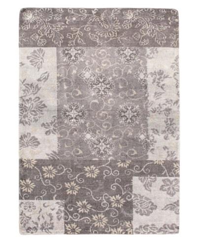 """Eternity Gabbeh Modern Silk Rug, Grey, 5' 4"""" x 7'6 """""""