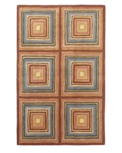 "Handmade Mosaic Elegance Rug, Pink, 3' 4"" x 5' 4"""