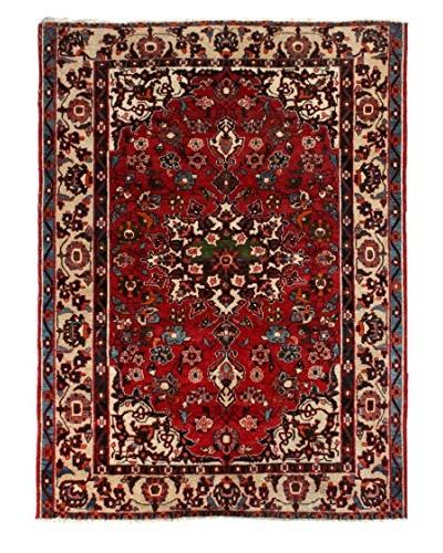 Semi Antique Baktiar Rug, Cream/Red/Navy/Light Blue, 4' 11 x 6' 6