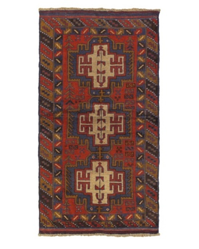 Hand-Knotted Kazak Rug, Red, 3' 5 x 6' 5