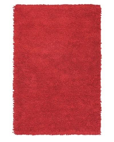 Handmade Ritz Modern Shag, Red, 4' x 6'