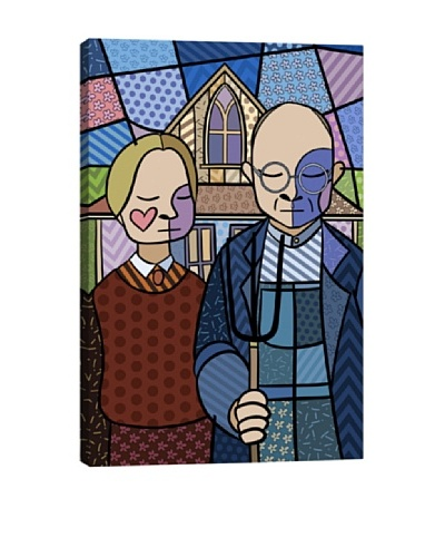 American Gothic 2 (After Grant Wood) Canvas Giclée Print
