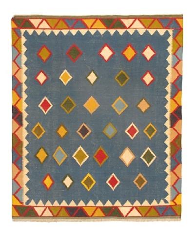 "Anatolian Kilim Transitional Kilim, Dark Night Blue, 6' 4"" x 7' 7"""