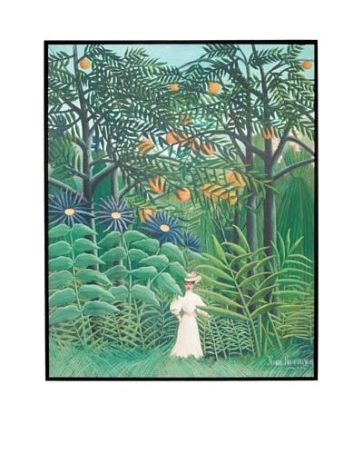 Henri Rousseau: Woman Walking in an Exotic Forest (Femme se promenant dans un forêt exotique), 1905A...