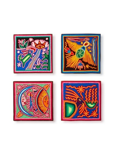 Set of 4 Wall Hangings, Multi