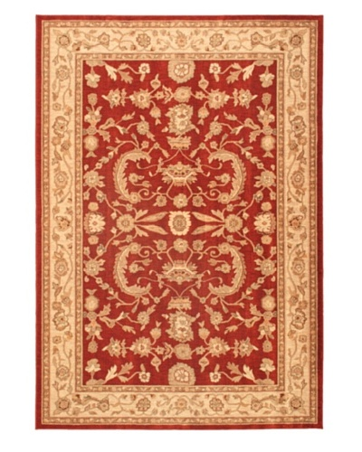 "Lotus Garden Traditional Rug, Dark Red, 6' 7"" x 9' 6"""