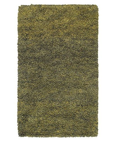 Hand-Knotted Plateau Shag, Green, 3' x 5'