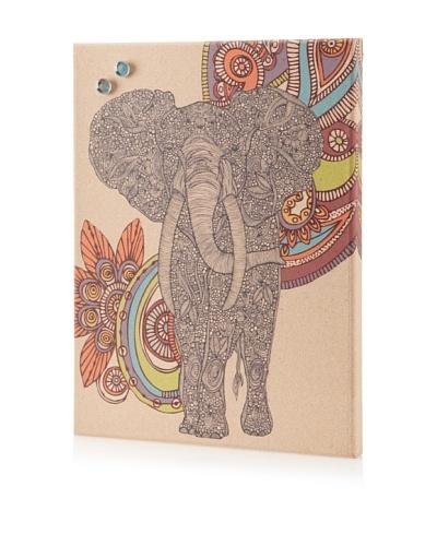 Valentina Ramos Elephant in Paisley Giclee on Cork Board