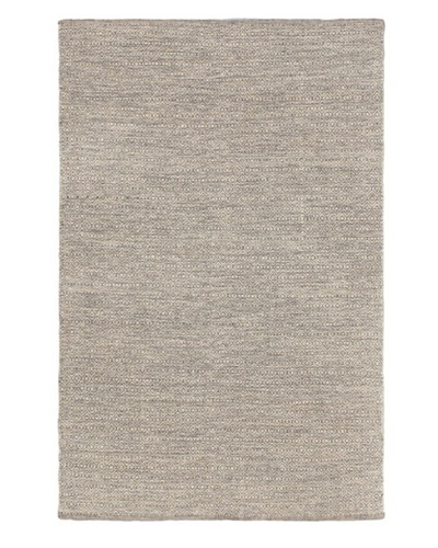 Hand Woven Gaia Dhurrie, Cream/Light Grey, 4' 5 x 6' 11