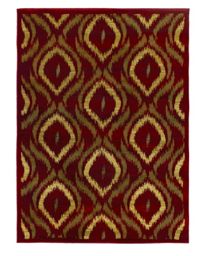 Ikat Modern Rug, Red, 5' 5 x 7' 8
