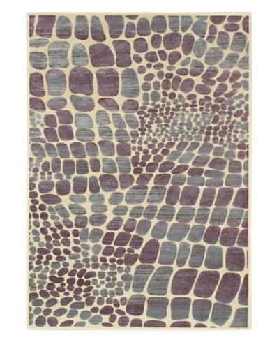 Pebbles Rug, Cream/Purple, 5' 2 x 7' 4
