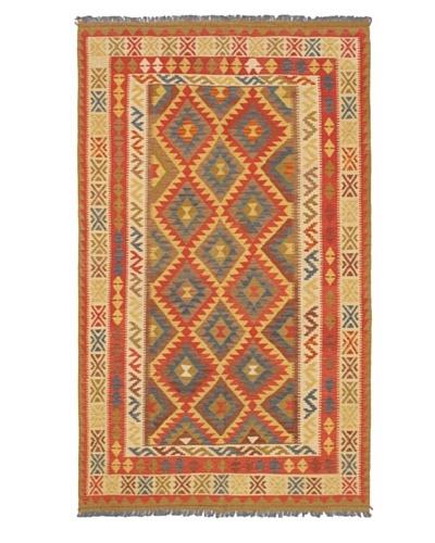 Izmir Kilim Traditional Kilim, Light Gold, 5' x 8' 6