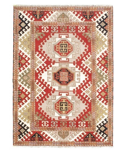 Hand-Knotted Royal Kazak Rug, Pink, 5' 8 x 8'