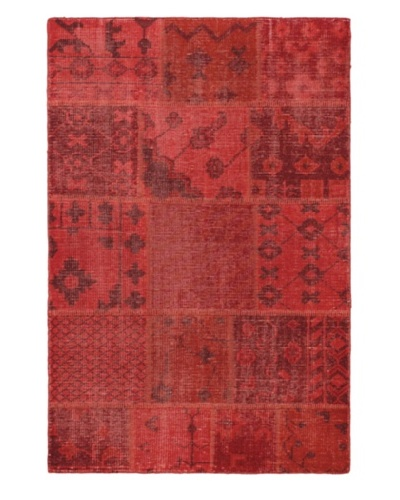 "Hand-Knotted Ushak Patch Wool Rug, Red, 3' 11"" x 5' 10"""