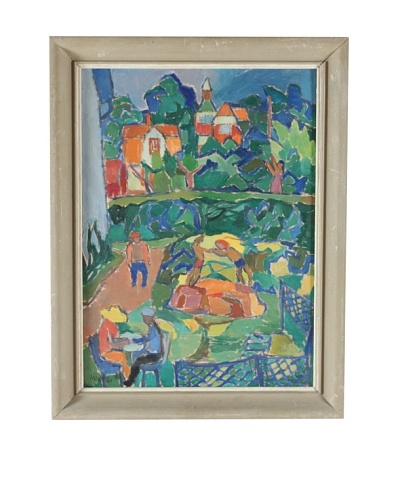 Folk Art Impression, 1950 Framed Artwork