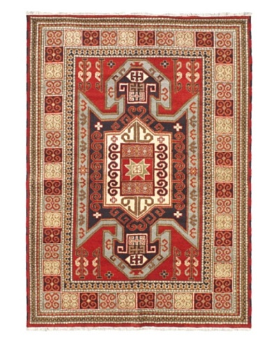"Hand-Knotted Royal Kazak Wool Rug, Red, 5' 7"" x 7' 10"""