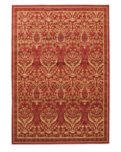 Ruby Garden Transitional Rug, Dark Red, 6' 7 x 9' 6