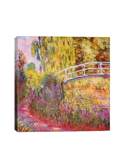 Claude Monet's Japanese Bridge, Pond with Water Lilies Giclée Canvas Print