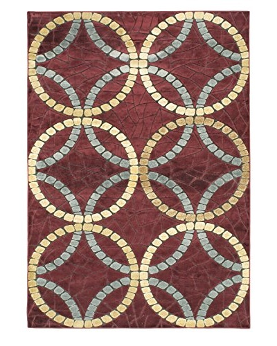 Braque Rug, Dark Red, 5' 2 x 7' 5