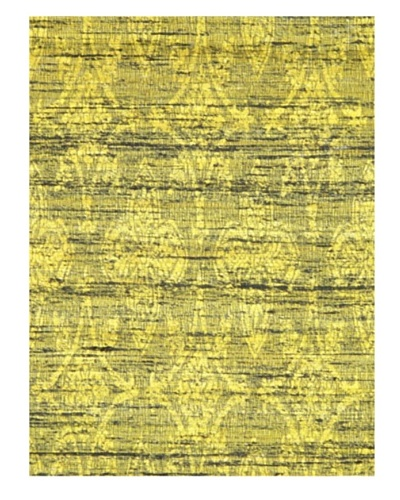 Fab Dhurrie Modern Dhurrie, Yellow, 4' 6 x 6' 5
