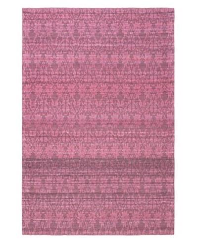 Fab Dhurrie Transitional Dhurrie, Dark Pink, 4' 5 x 6' 7