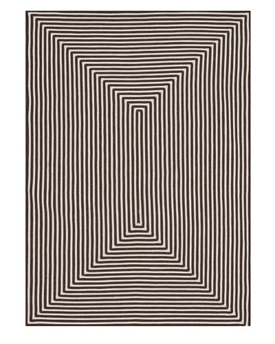 Stripes Indoor/Outdoor Rug [Brown]
