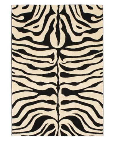 Zebra Trek Modern Rug, Blue/Red/White, 4' 4 x 6' 3