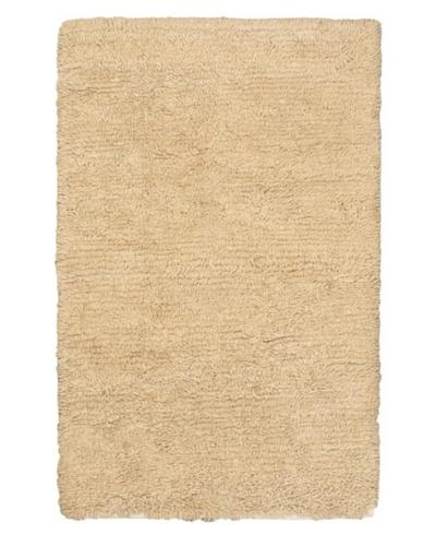 Hand-Knotted Nouveau Modern Wool Shag, Khaki, 4' x 6'