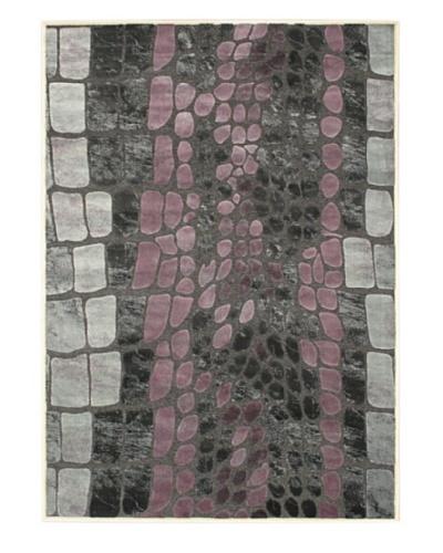 Pebbles Rug Dark Gray/Purple, 5' 2 x 7' 4
