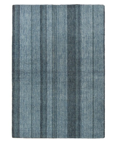 Hand-Knotted Luribaft Gabbeh Riz Rug, Light Blue, 4' x 6'