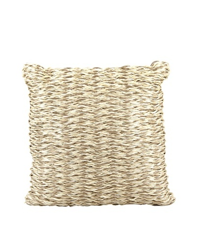 Joseph Abboud Multi Braid Pillow, Beige/Ivory, 20 x 20