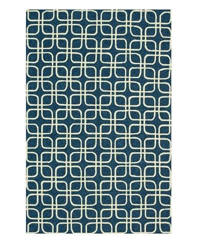 Venice Beach Indoor/Outdoor Rug [Blue/Ivory]