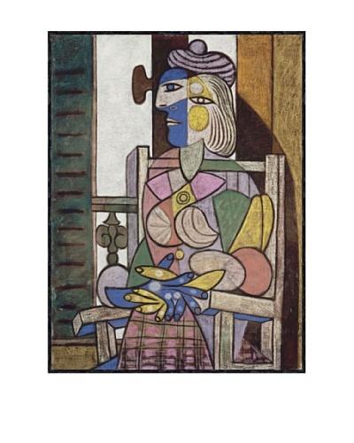 Pablo Picasso Femme assise devant la fenetre Framed Art