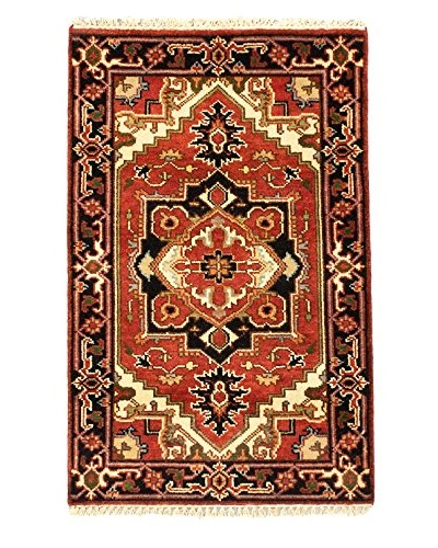 Hand-Knotted Serapi Heritage Wool Rug, Dark Copper, 2' 7 x 4'