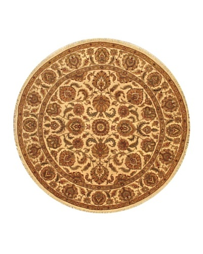Hand-Knotted Sultanabad Oriental Rug, Beige, 8' 1 Round