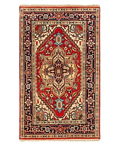 Hand-Knotted Serapi Heritage Wool Rug, Dark Copper, 3' 11 x 6' 5