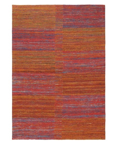 "Handwoven Fab Dhurrie, Dark Red, 4' 6"" x 6' 6"""
