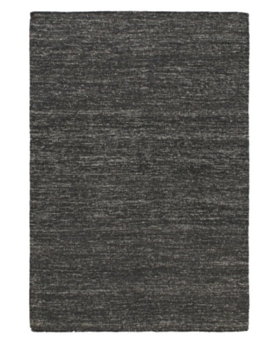 """Hand Woven Allure Kilim, Black, 4' 2"""" x 6' 2"""""""