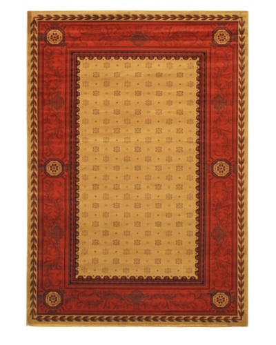 "Royale Traditional Rug, Khaki/Red, 5' 3"" x 7' 7"""