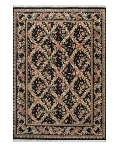 Hand-Knotted Double Knot Oriental Rug, Navy, 6' x 8' 7""